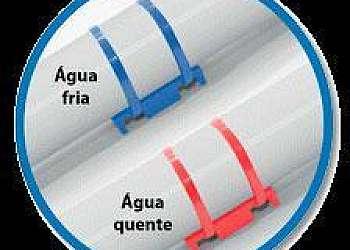 Abraçadeira de plastico para tubos